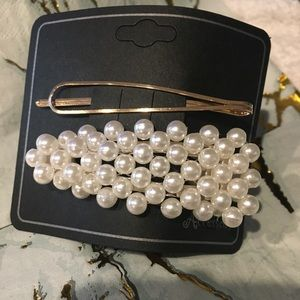 Accessories - Hair Clip Barette Pearls 2. NWT